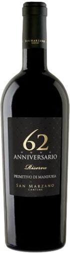 San Marzano - 62 Anniversario Primitivo Manduria Riserva 2016 75cl Bottle